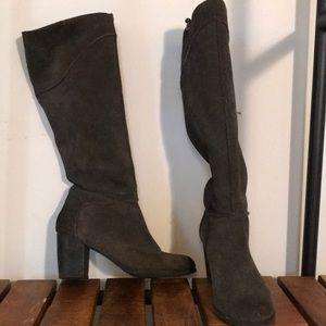 "Like new grey ""Suede"" knee high boots"
